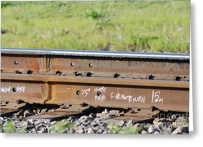 Steel Tracks Greeting Card by Mark McReynolds