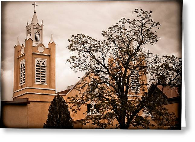 Albuquerque, New Mexico - Steeples Greeting Card