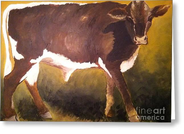 Steer Calf Greeting Card