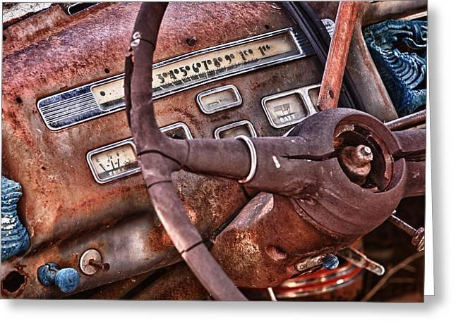 Steering Wheel Greeting Card by Richard Steinberger