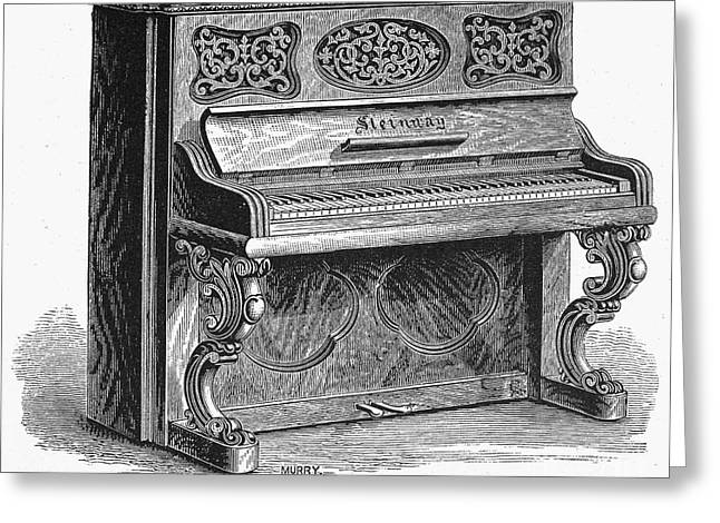Steinway Piano, 1878 Greeting Card by Granger