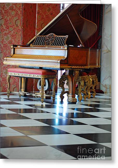 Steinway Greeting Card by Robert Meanor