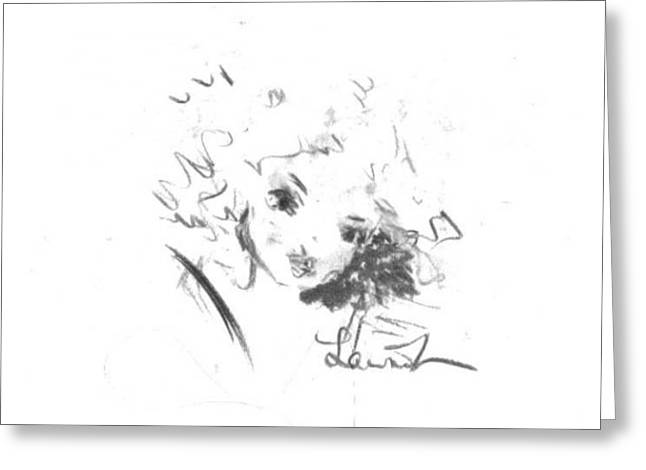 Greeting Card featuring the drawing Just Country by Laurie Lundquist