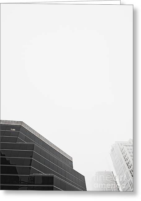 Step Tiered Office Building With Dark Windows Greeting Card by Jetta Productions, Inc
