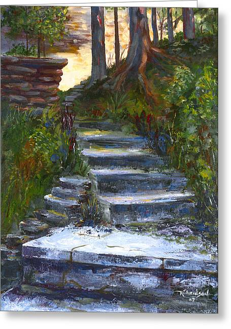 Step To The Light Greeting Card by George Richardson
