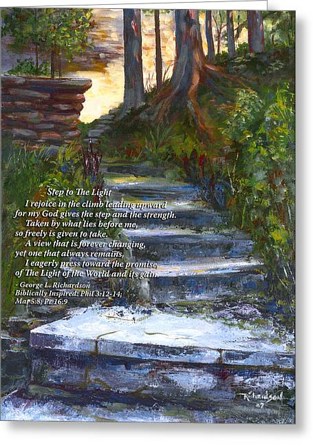 Step To The Light With Poem Greeting Card