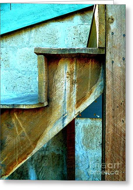 Greeting Card featuring the photograph Stepping Up To The Blues by Newel Hunter