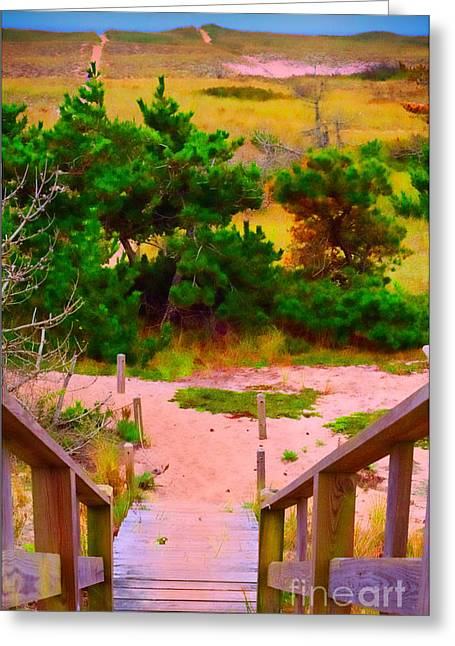 Greeting Card featuring the photograph Steps - Surfside Beach by Jack Torcello
