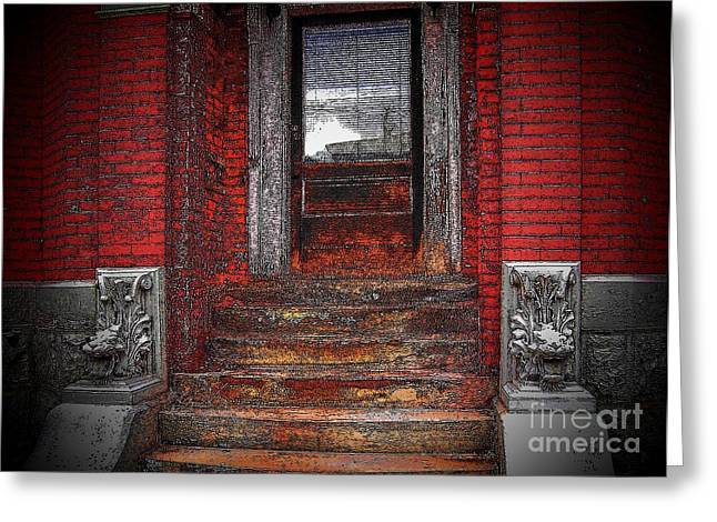 Steps To The Past Greeting Card by Victor Sexton