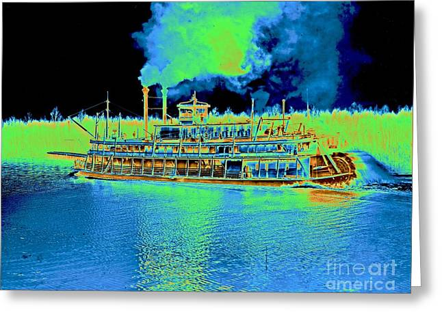 Stern-wheel Steamboat Belle Of Calhoun 1906 Greeting Card by Padre Art