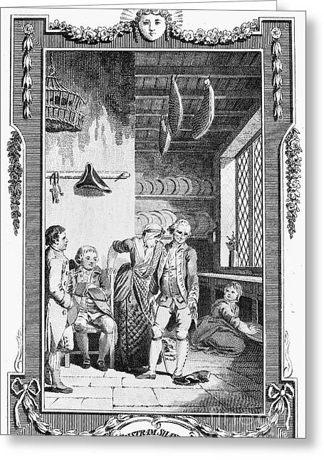 Sterne: Tristram Shandy. Engraving For The 1781 Edition Of Laurence Sternes Novel Greeting Card
