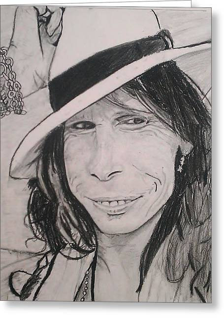 Steven Tyler Greeting Card by Brittany Frye