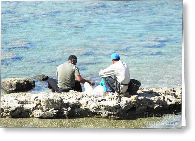 Still Fishing On The Sea Of The Galilee Greeting Card