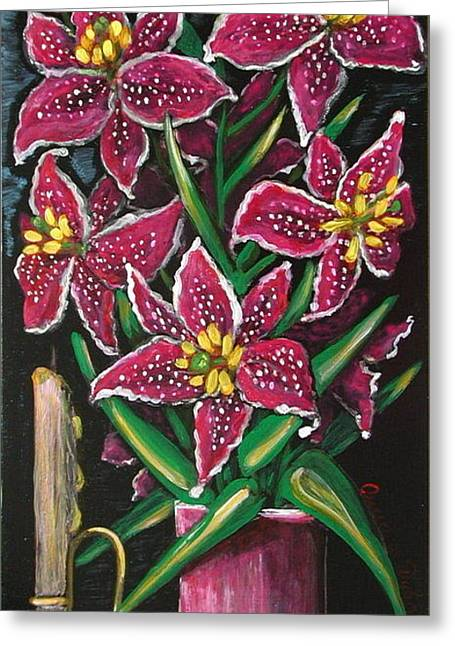 Still Life Greeting Card by Anna Folkartanna Maciejewska-Dyba