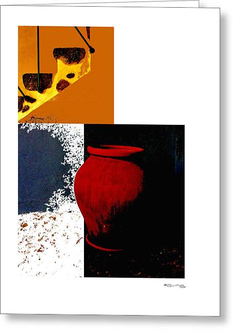 Still Life Collage Greeting Card