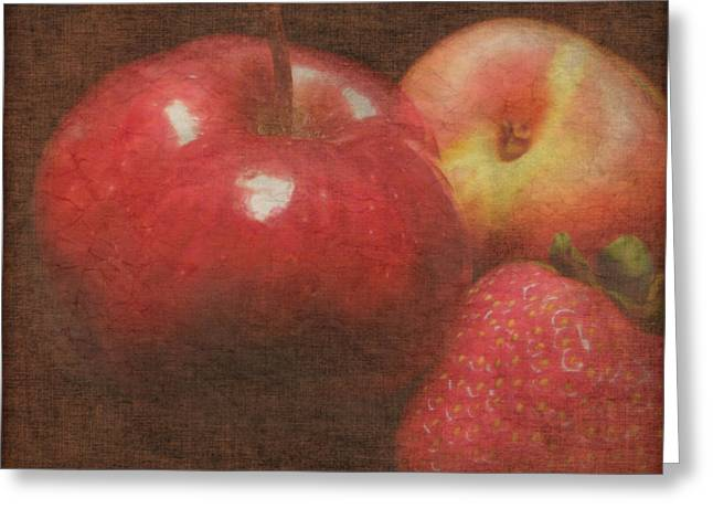 Still Life Fruit Greeting Card by Cindy Wright