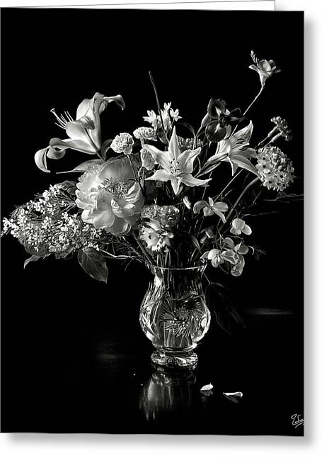 Still Life In Black And White Greeting Card