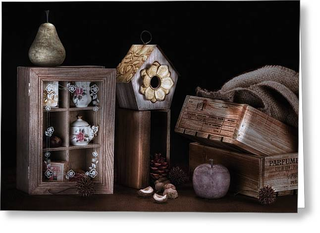 Still Life Light Painting Greeting Card by Tom Mc Nemar