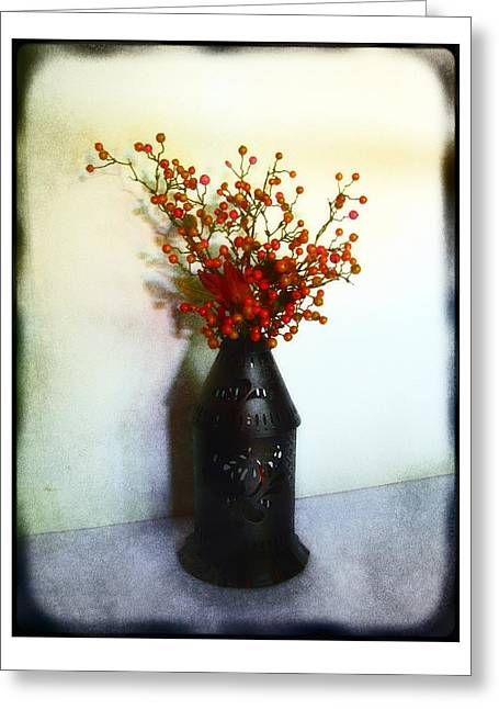Still Life With Berries Greeting Card by Judi Bagwell