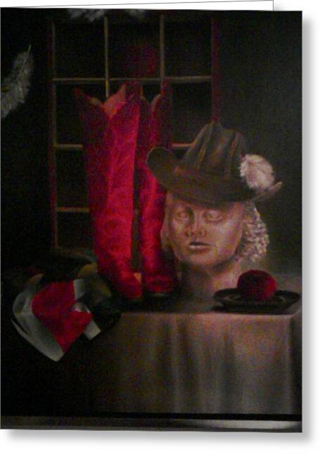 Still Life With Boots Greeting Card by Karin Eisermann
