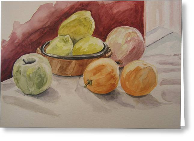 Still Life With Fruits Greeting Card by Kate Partali