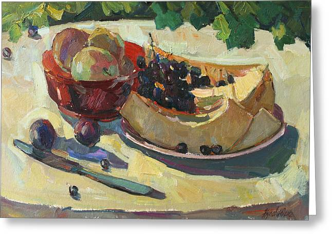 Still Life With Melon Greeting Card