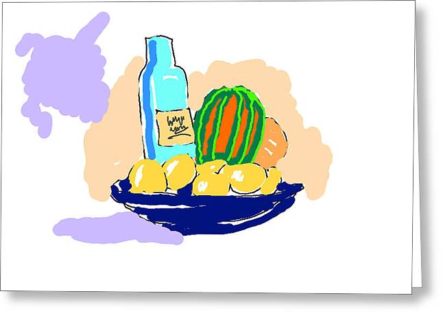 Still Life With Purple Cloud Greeting Card