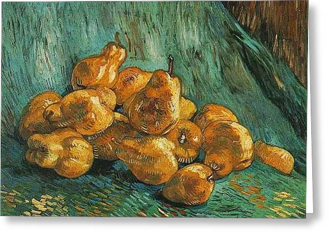Still Life With Quince Pears Greeting Card by Vincent Van Gogh