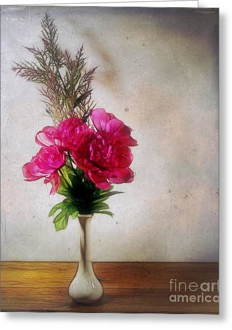 Still Life With Texture Greeting Card by Judi Bagwell