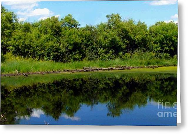 Greeting Card featuring the photograph Still Water by Jim Sauchyn