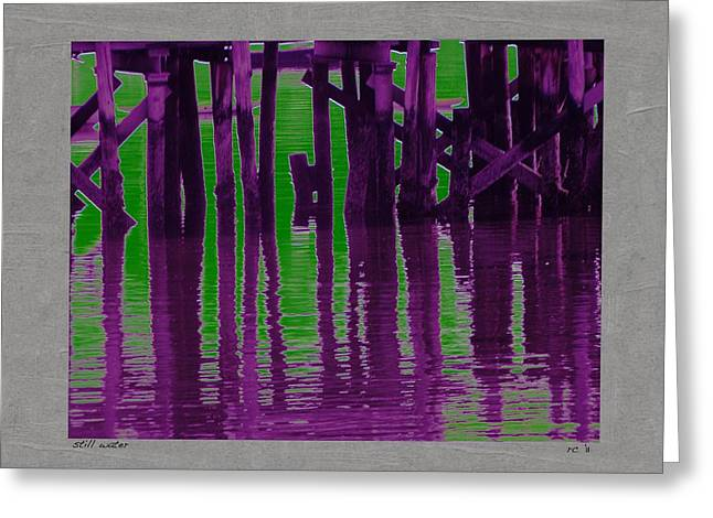 Still Water Greeting Card by Rene Crystal