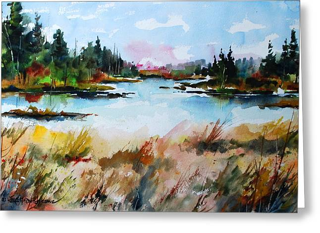 Still Waters At Blueberry Island Greeting Card