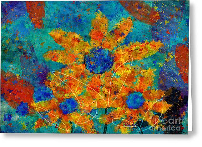 Stimuli Floral -s01t01 Greeting Card
