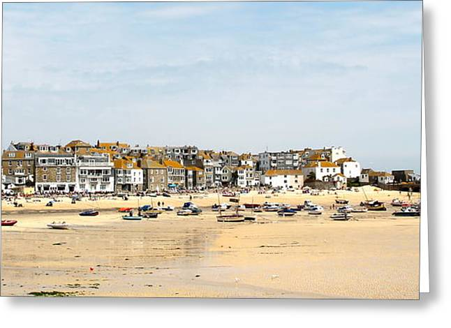 St.ives Bay.cornwall Greeting Card by Karen Grist