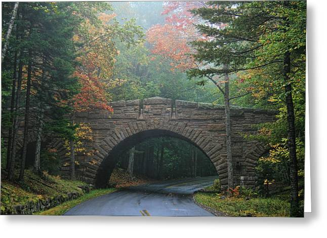 Stone Bridge Greeting Card by Mary Hershberger