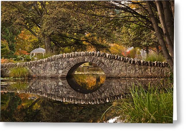 Stone Bridge Reflection Greeting Card by Graeme Knox