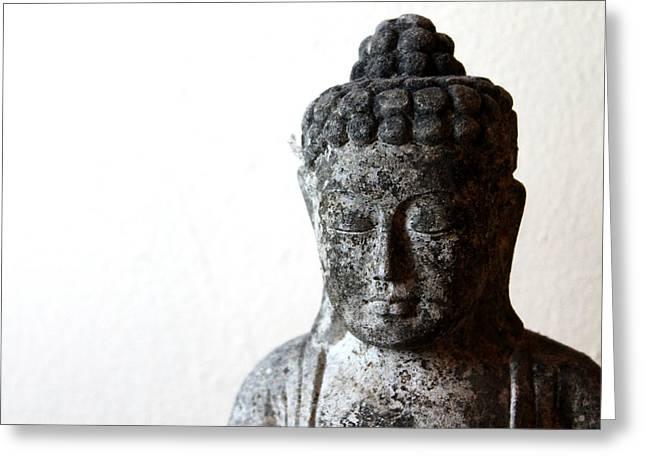Stone Buddha Greeting Card by Janita Topan