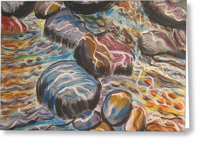 Stone Candy Greeting Card by Julia Rita Theriault