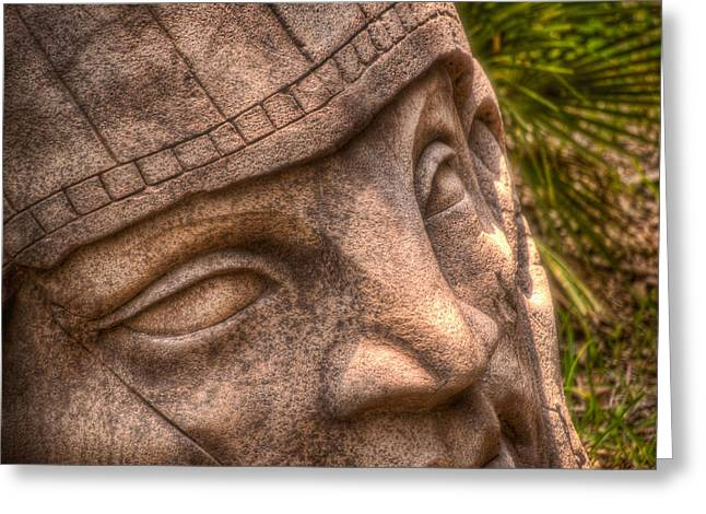 Stone Face Greeting Card by Joetta West