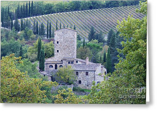 Stone Farmhouse Near Montefioralle Greeting Card