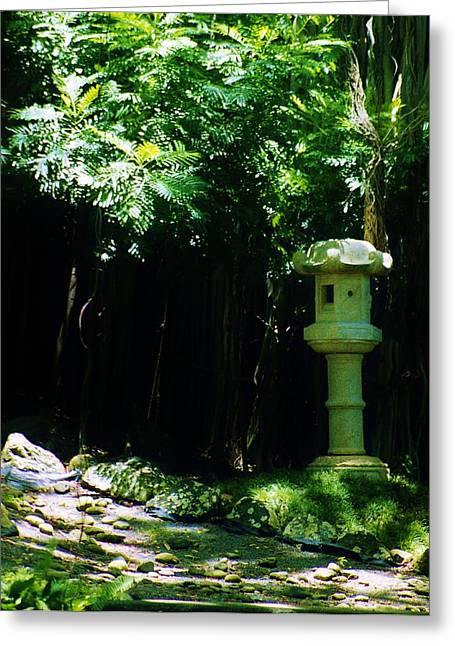 Stone Lantern Greeting Card