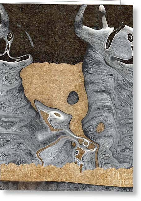 Stone Men 28 - Celebration  Greeting Card by Variance Collections