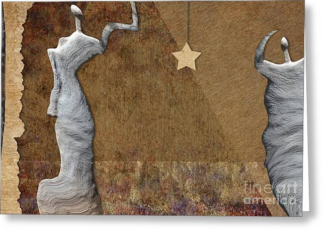Stone Men 30-33 - Les Femmes Greeting Card by Variance Collections