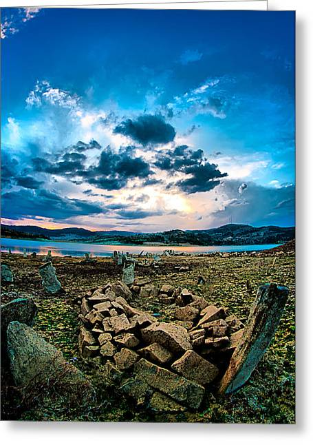 Greeting Card featuring the photograph Stone by Okan YILMAZ