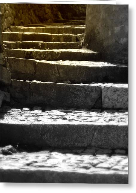 Stone Steps Greeting Card by Emanuel Tanjala