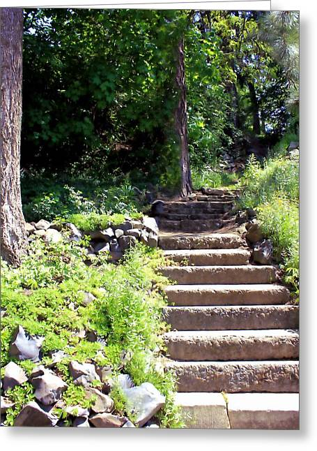 Stone Steps Greeting Card by Myrna Migala