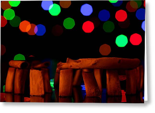 Stonehenge In Starry Night Greeting Card by Paul Ge