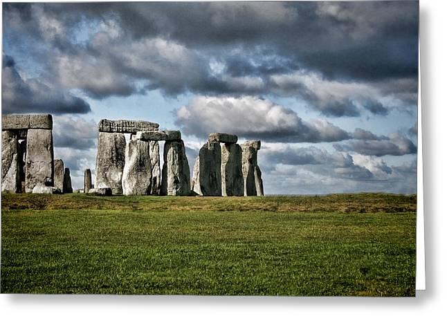 Stonehenge Landscape Greeting Card by Heather Applegate
