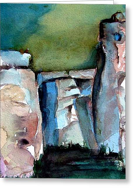 Stonehenge Greeting Card by Mindy Newman