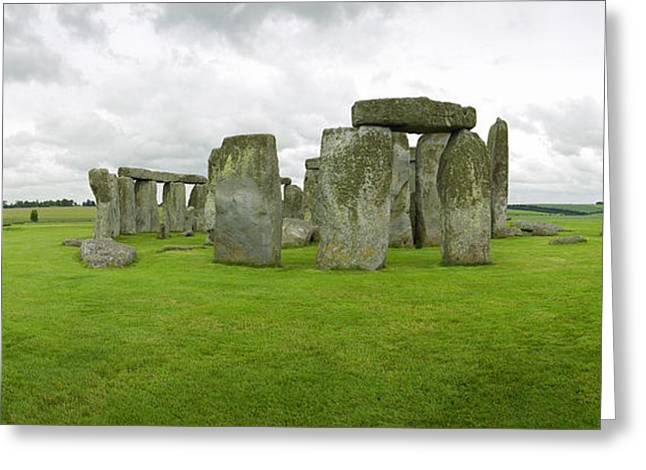 Stonehenge Stones Greeting Card by Jan W Faul